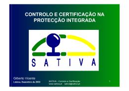 controlo e certificação na protecção integrada