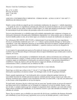 Director- Geral das Contribuições e Impostos Rec. nº 81/ A/1993