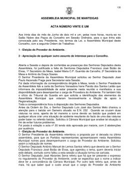 30 de junho de 2001 - Câmara Municipal de Manteigas