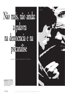 Não mais, não ainda - Universidade de São Paulo