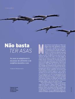 Não basta ter asas - Revista Pesquisa FAPESP