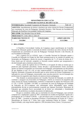 Parecer CNE/CES nº 334/2004, aprovado em 11 de novembro de