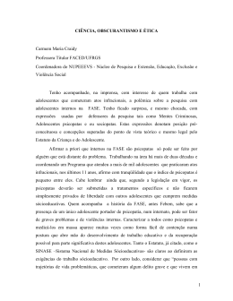 Ciência, obscurantismo e ética