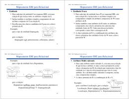 Mapeamento ERE -> Relacional
