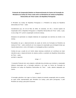 Protocolo de Cooperação Relativo ao Desenvolvimento do Centro