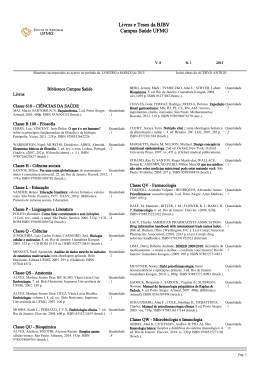 Boletim Informativo nº.1 - Universidade Federal de Minas Gerais