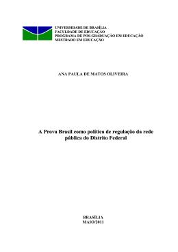 A Prova Brasil como política de regulação da rede pública do