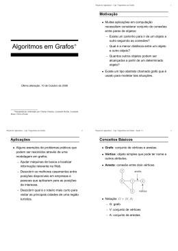 Algoritmos em Grafos