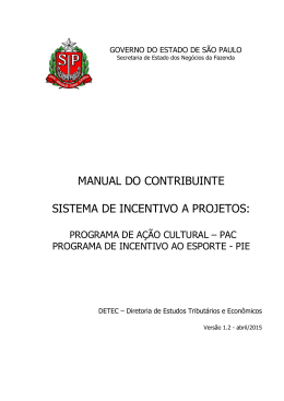 Manual do Contribuinte - Secretaria da Fazenda