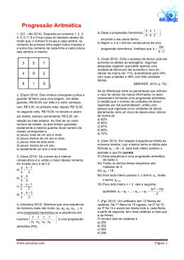Progressão Aritmética e Geomética