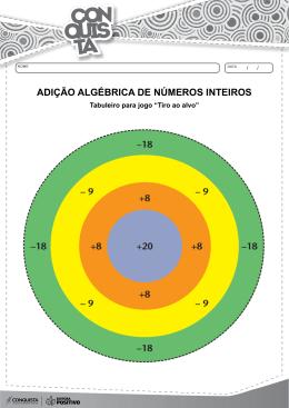 ADIÇÃO ALGÉBRICA DE NÚMEROS INTEIROS