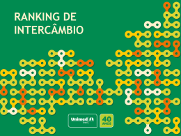 RANKING DE INTERCÂMBIO