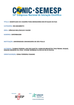 TÍTULO: SIGNIFICADO DO CIGARRO PARA - O Conic