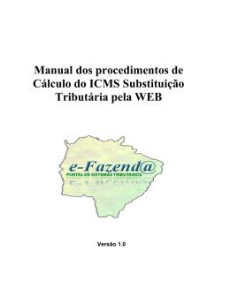 Manual dos procedimentos de Cálculo do ICMS Substituição