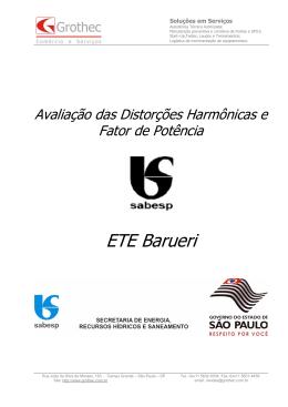 ETE Barueri - Grothec Comercio Serviços