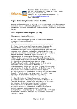Página 1 de 19 Projeto de Lei Complementar Nº 237