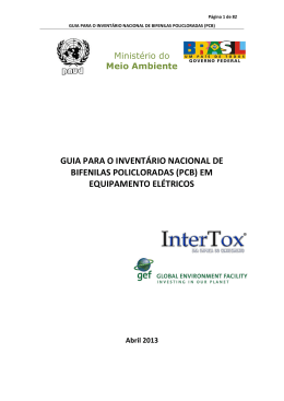 Guia para o inventário nacional de Bifenilas Policloradas (Pcb)