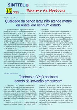 Qualidade da banda larga não atende metas da Anatel - Sinttel-ES