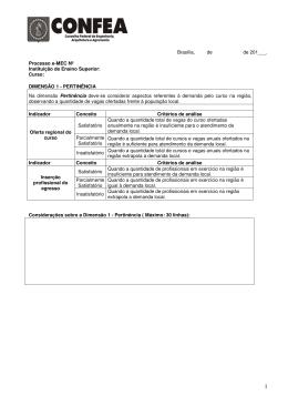 Instrumento para Pareceres / CONFEA