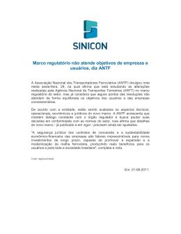 Marco regulatório não atende objetivos de empresas e
