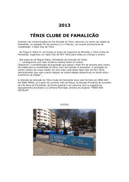 2013 TÉNIS CLUBE DE FAMALICÃO - Associação de Ténis do Porto