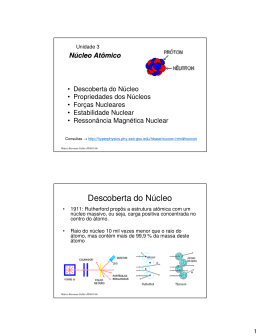 Física Nuclear – Núcleo Atômico