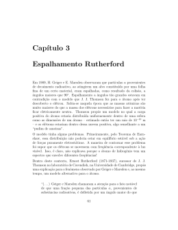 Cap´ıtulo 3 Espalhamento Rutherford