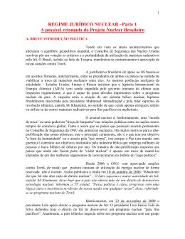 REGIME JURÍDICO NUCLEAR