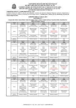 COMUNICADO Nº 17 AG 1 2013