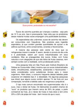 Veja matéria em PDF