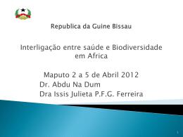 Republica da Guine Bissau Ministério da Saúde