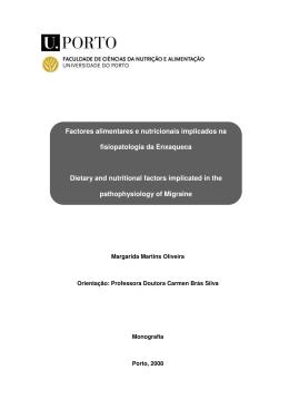 Factores alimentares e nutricionais implicados na fisiopatologia da