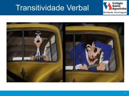 Transitividade Verbal - Colégio Santo Agostinho