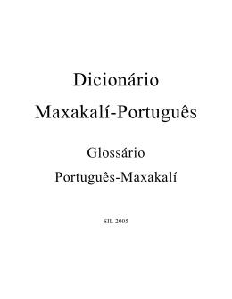 Dicionário Maxakalí-Português