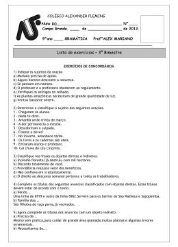 COLÉGIO ALEXANDER FLEMI - Sistema de Gestão Escolar