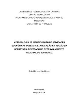 Método de identificação de atividades econômicas