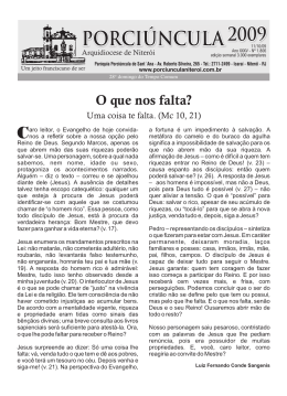 Edição 1806 – 11/10/2009 - Paróquia Porciúncula de Sant`ana