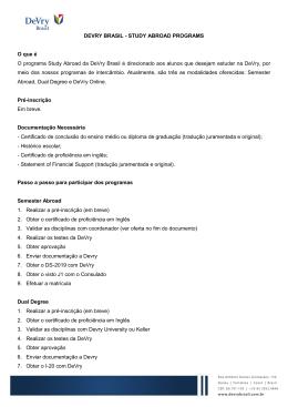 DEVRY BRASIL - STUDY ABROAD