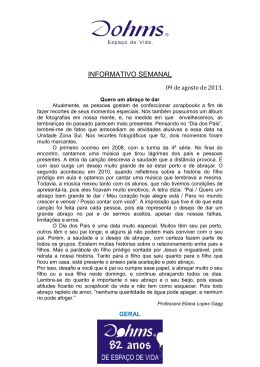INFORMATIVO SEMANAL - Centro de Ensino Pastor Dohms