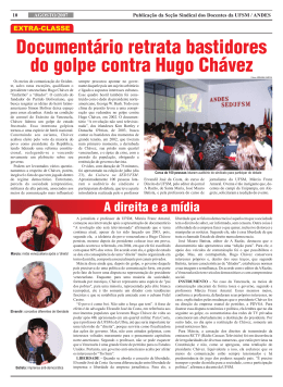 Documentário retrata bastidores do golpe contra Hugo