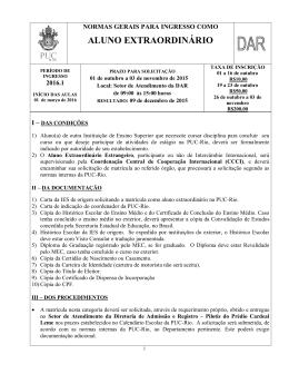 ALUNO EXTRAORDINÁRIO - PUC-Rio