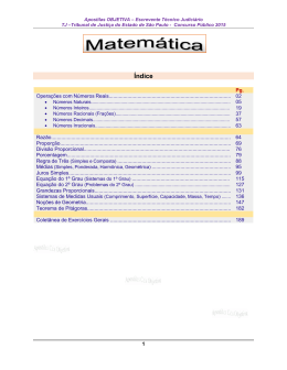 Matemática - Apostilas Para Concursos Públicos