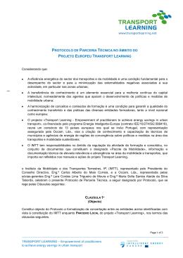 PROTOCOLO DE PARCERIA TÉCNICA NO ÂMBITO DO