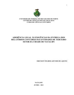 aderência legal ás exigências da entrega dos relatórios contábeis