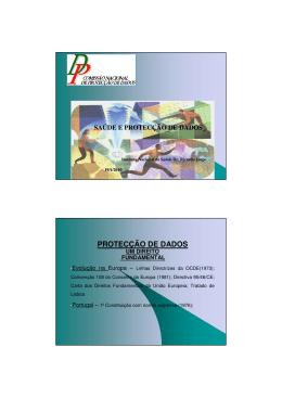 Saúde e Protecção de Dados – Dra. Isabel Cruz, CNPD