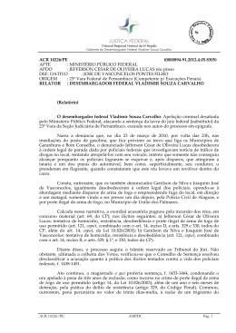 JEFFERSON CESAR DE OLIVEIRA LUCAS réu preso