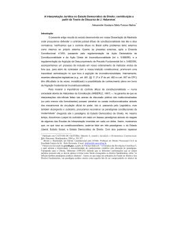 Capítulo 2. O Papel do Judiciário no Controle de Constitucionalidade