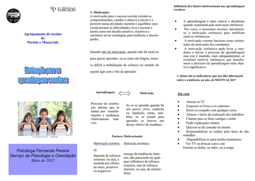 Motivação Para As Aprendizagens Escolares