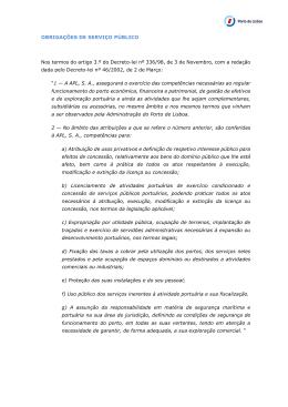 OBRIGAÇÕES DE SERVIÇO PÚBLICO Nos termos do artigo 3.º do