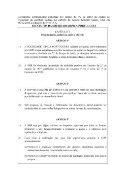 Documento complementar elaborado nos termos do nº2 do art.64